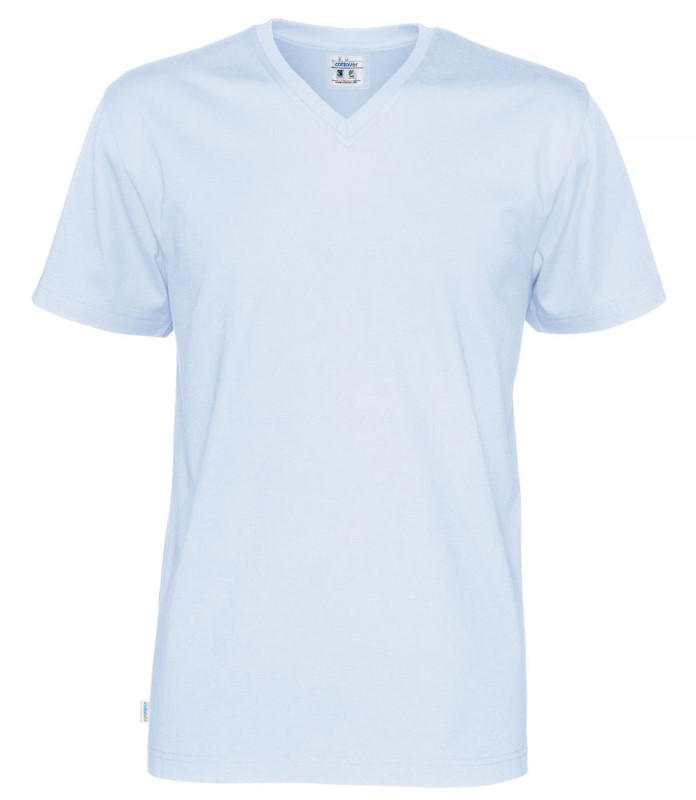 Cottover T-shirt SS V-neck Man lichtblauw S