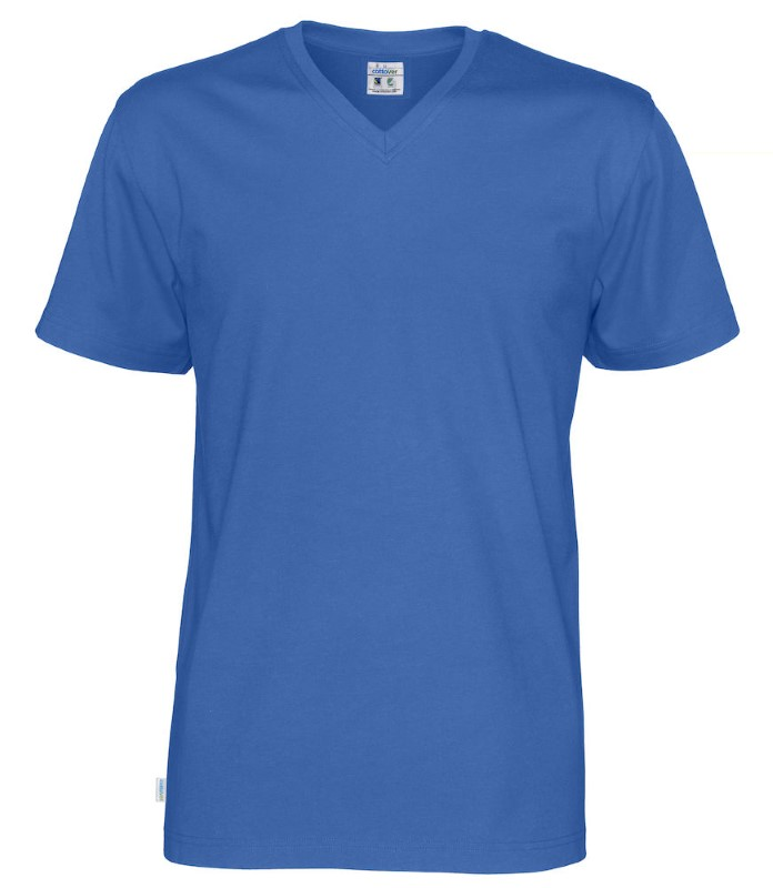 Cottover T-shirt SS V-neck Man koningsblauw XL