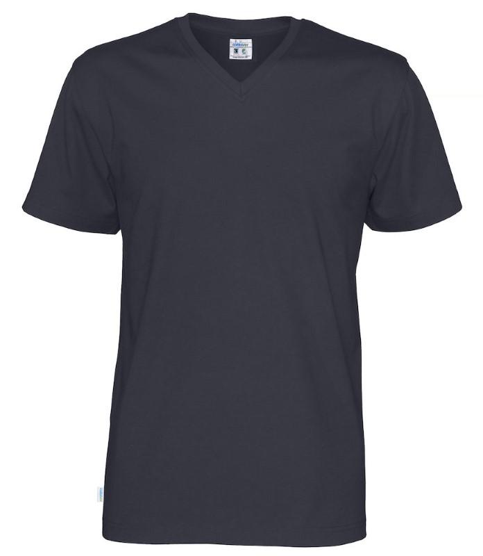 Cottover T-shirt SS V-neck Man marine 3XL