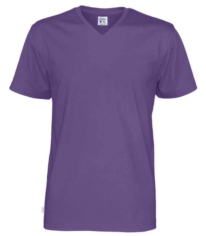 Cottover T-shirt SS V-neck Man paars XL