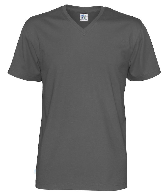 Cottover T-shirt SS V-neck Man antraciet L