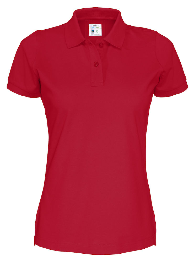 Cottover Pique SS Lady rood L