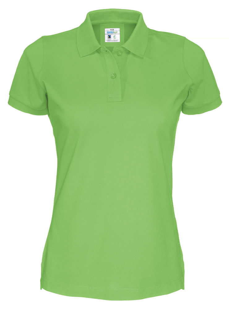 Cottover Pique SS Lady groen XL