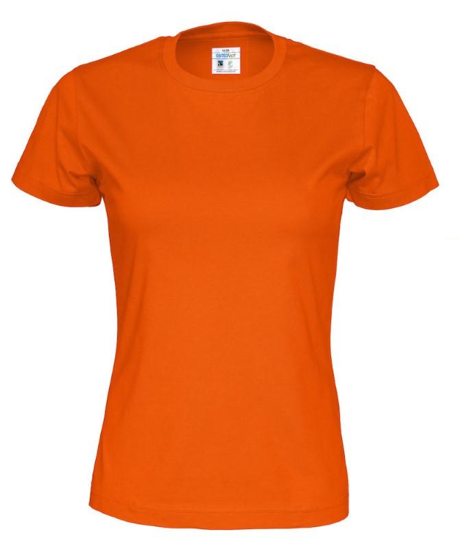 Cottover T-shirt Lady oranje XXL