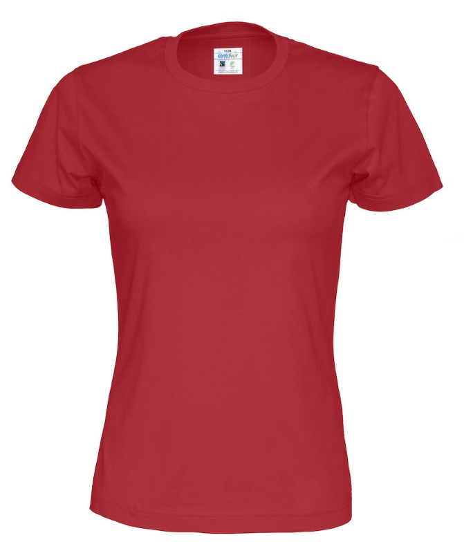Cottover T-shirt Lady rood XXL