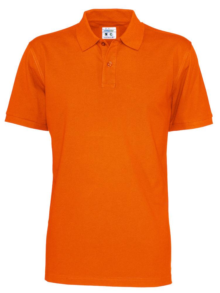 Cottover Pique SS Man oranje M