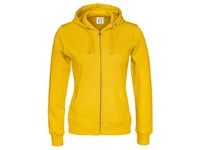 Cottover Full Zip Hood Lady geel XS