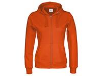 Cottover Full Zip Hood Lady oranje XS