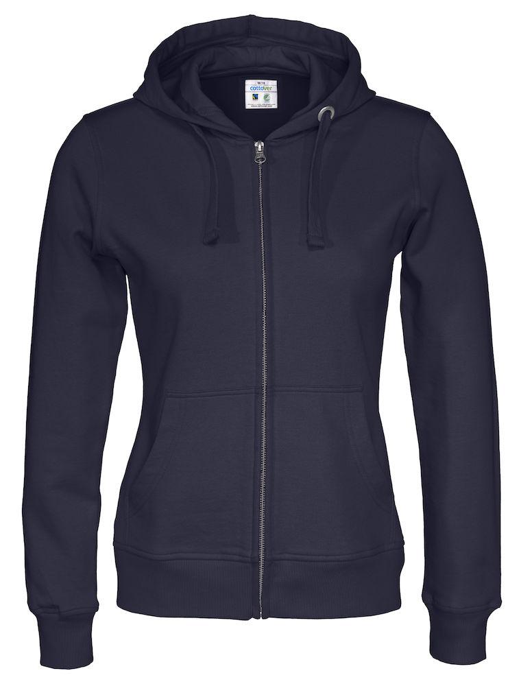 Cottover Full Zip Hood Lady marine XXL