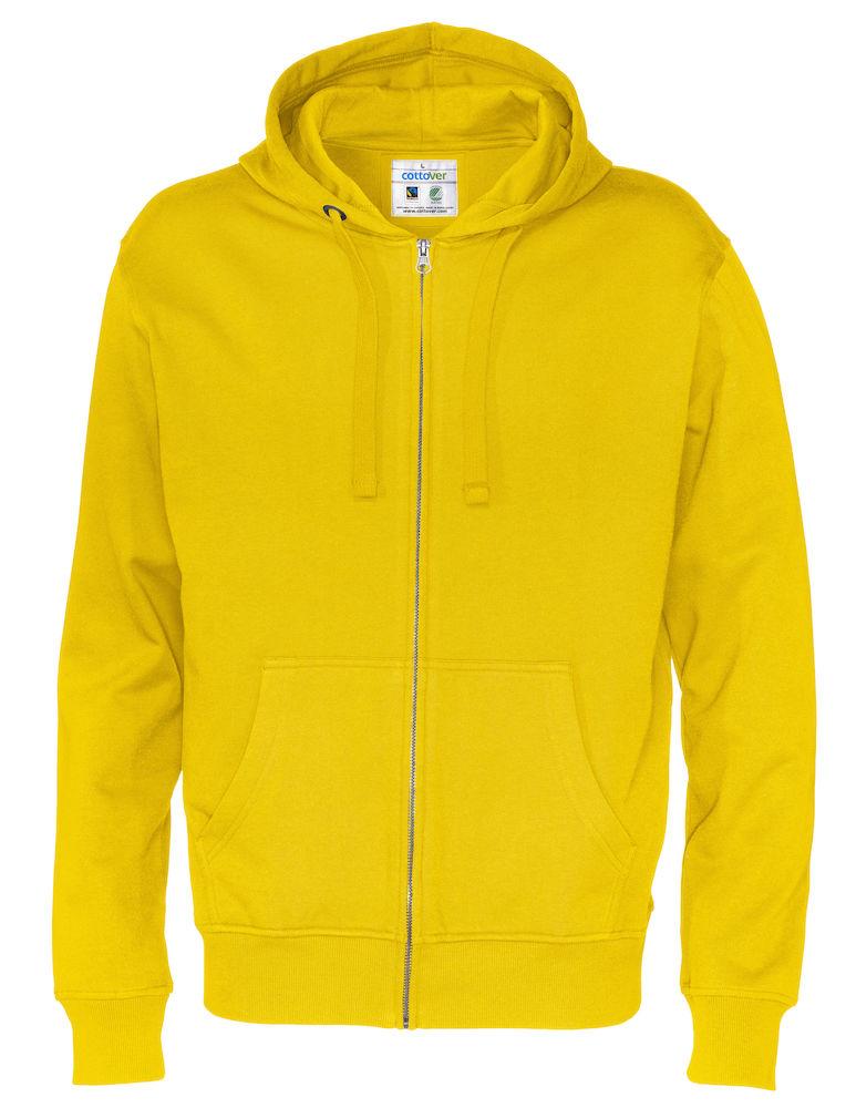 Cottover Full Zip Hood Man geel L