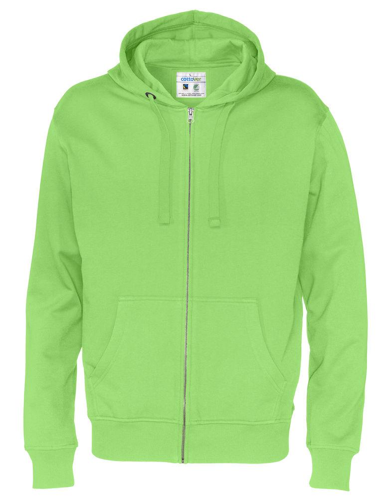 Cottover Full Zip Hood Man groen XXL