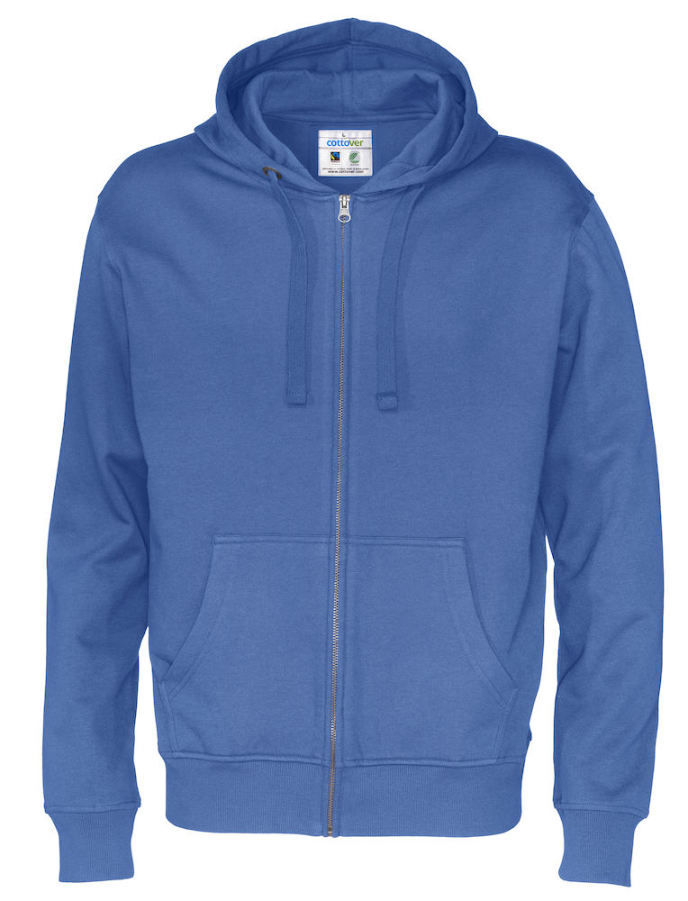 Cottover Full Zip Hood Man blauw 4XL