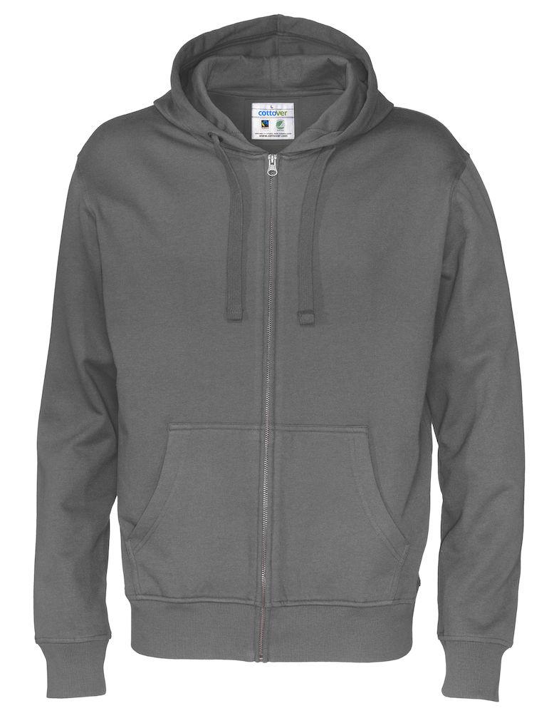 Cottover Full Zip Hood Man antraciet XL