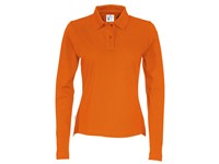 Cottover Pique Long Sleeve Lady oranje L