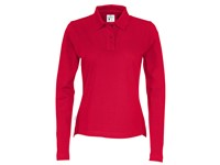 Cottover Pique Long Sleeve Lady rood XXL