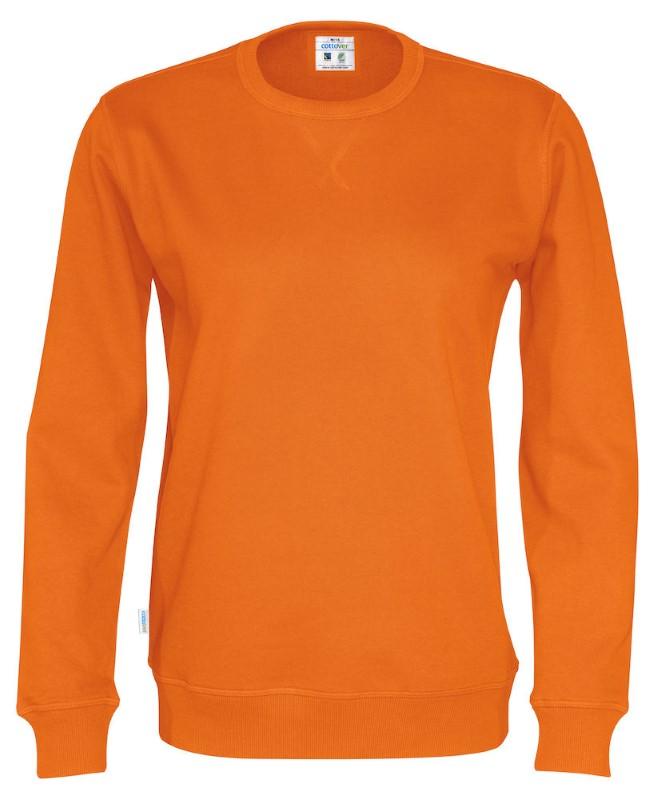 Cottover Crew Neck Unisex oranje XL