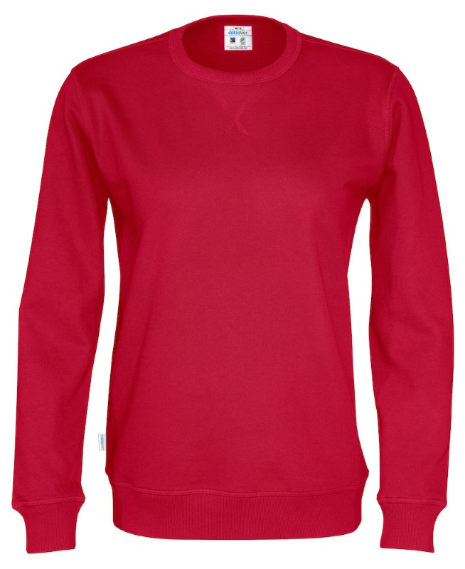 Cottover Crew Neck Unisex rood 4XL