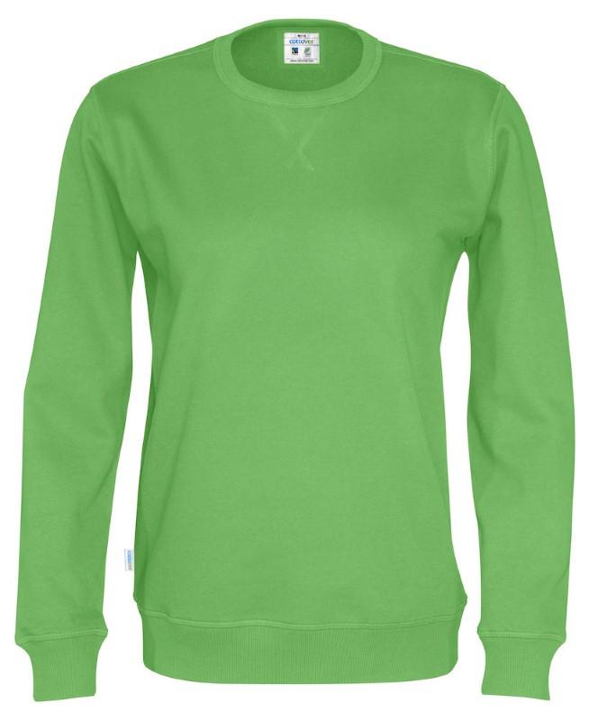 Cottover Crew Neck Unisex groen 3XL
