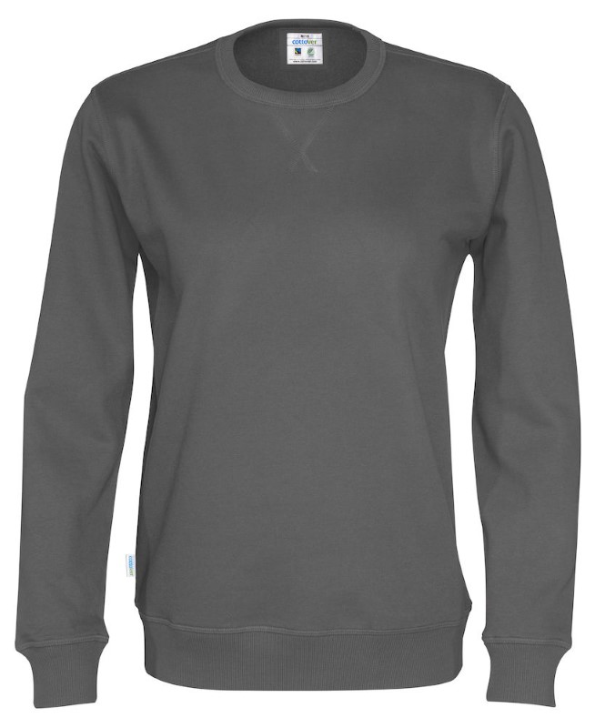 Cottover Crew Neck Unisex antraciet 4XL