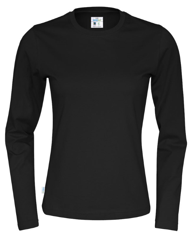 Cottover T-shirt Long Sleeve Lady zwart XS