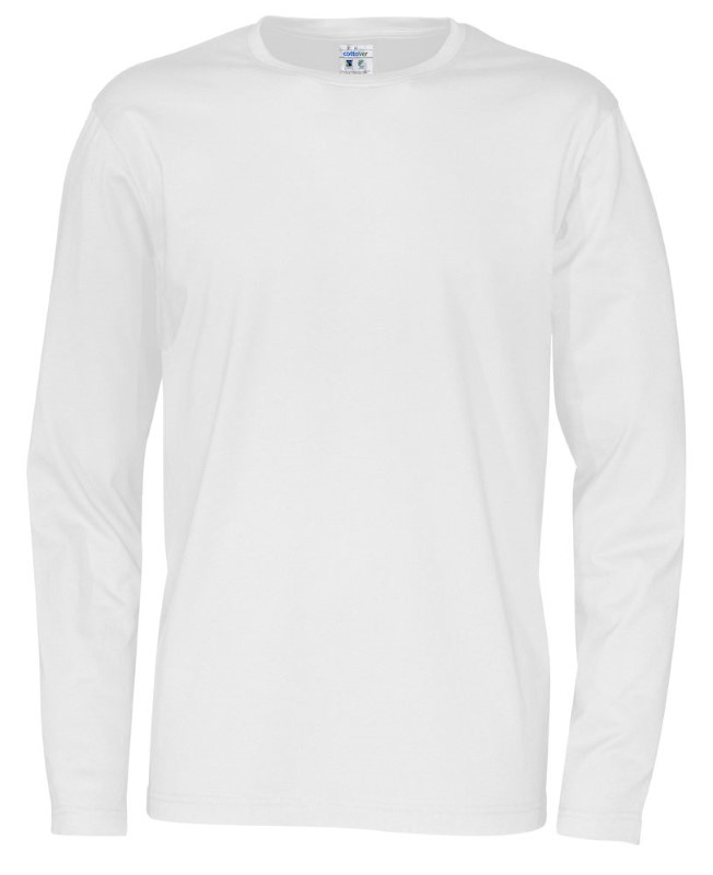 Cottover T-shirt Long Sleeve Man wit 4XL