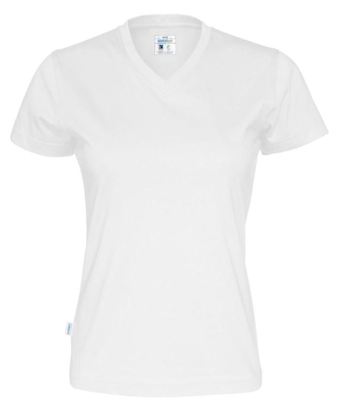 Cottover T-shirt SS V-neck Lady wit XXL