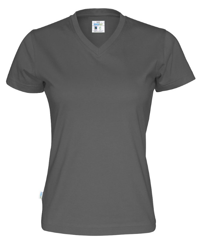 Cottover T-shirt SS V-neck Lady antraciet XS