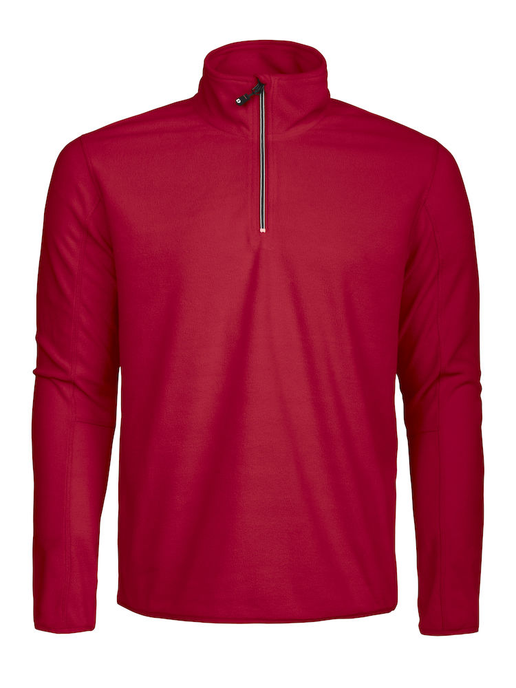 DAD MELTON HALF ZIP rood XL