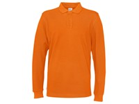 Cottover Pique Long Sleeve Man oranje 3XL