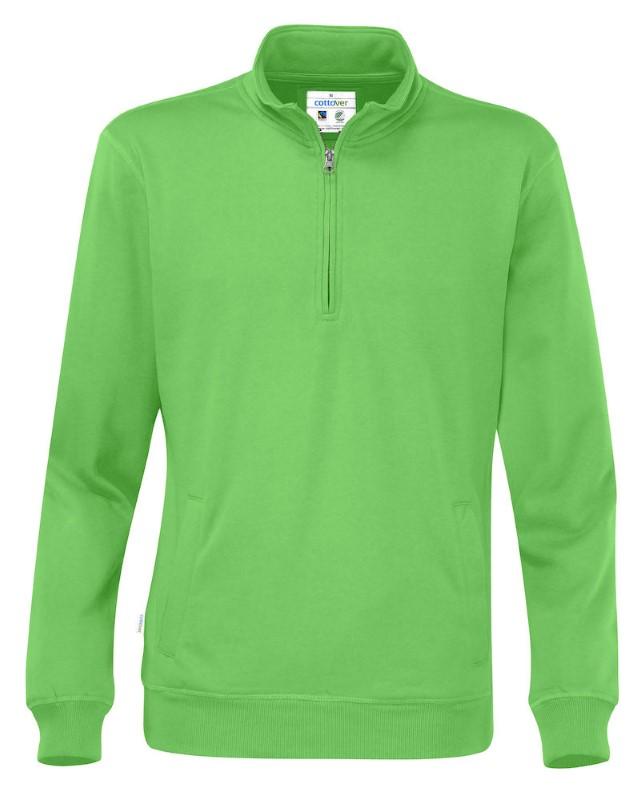 Cottover Half Zip Unisex groen L