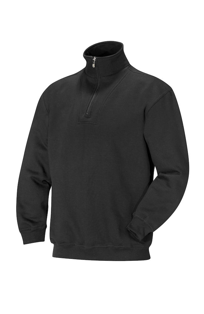 No problem PORTLAND 1/2 ZIP UNISEX zwart XS