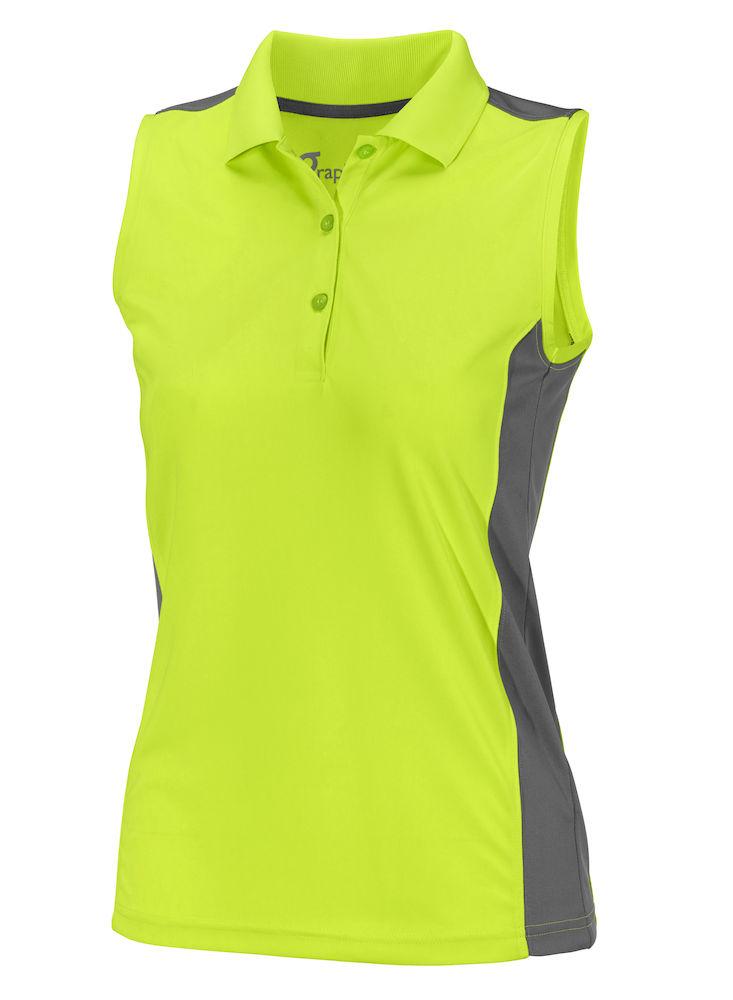 Graphix VALENCIA POLO WOMAN neon geel / zwart No size