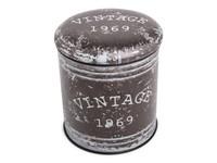 Multifunctional seat/storage barrel - Vintage design MEDIUM