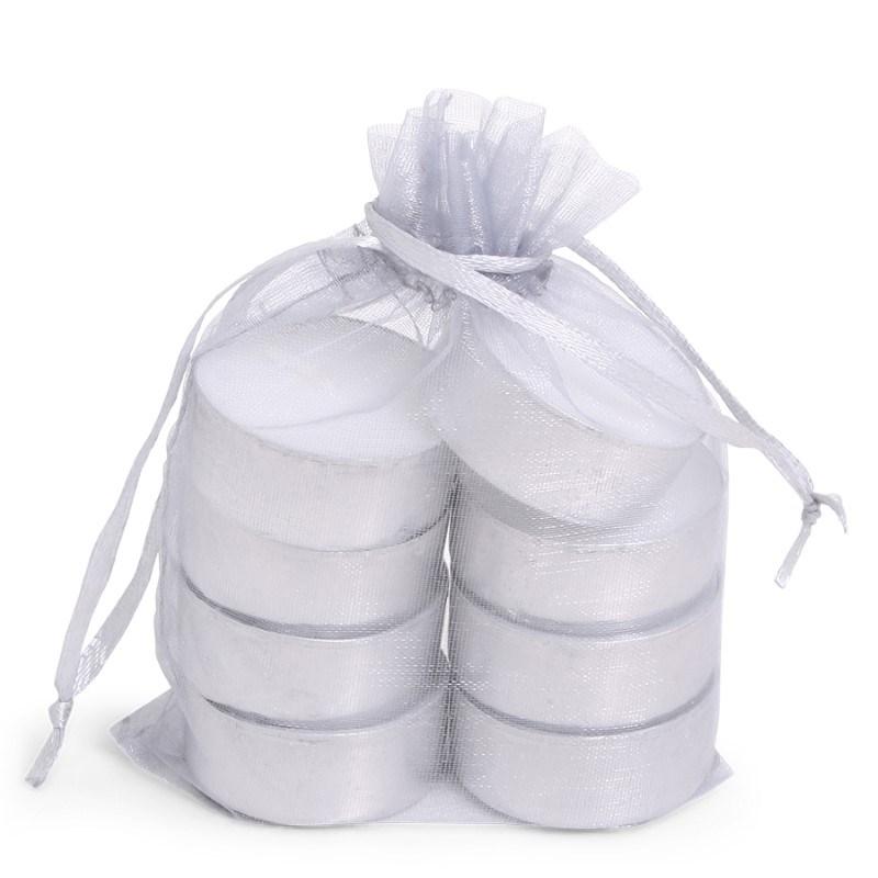 Organza Tealight Bag /8 Silver