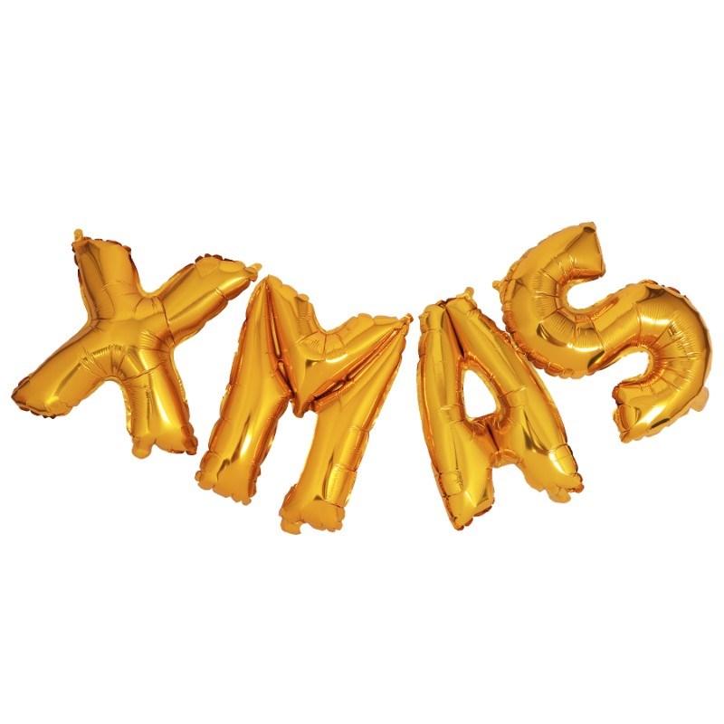 SENZA Foil Balloons XMAS Gold