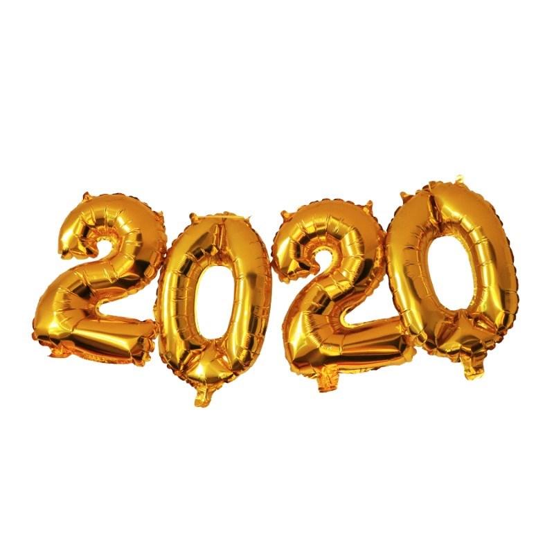 SENZA Foil Balloons 2020 Gold