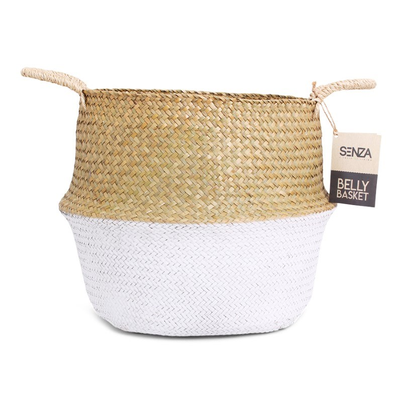 SENZA Belly Basket Natural/White