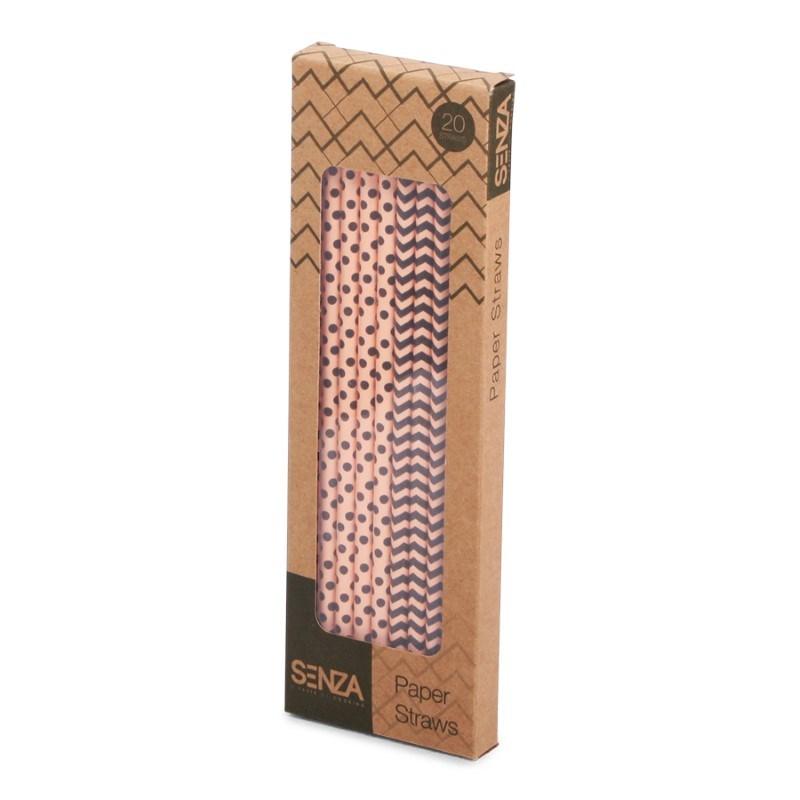 SENZA Paper Straws Brown