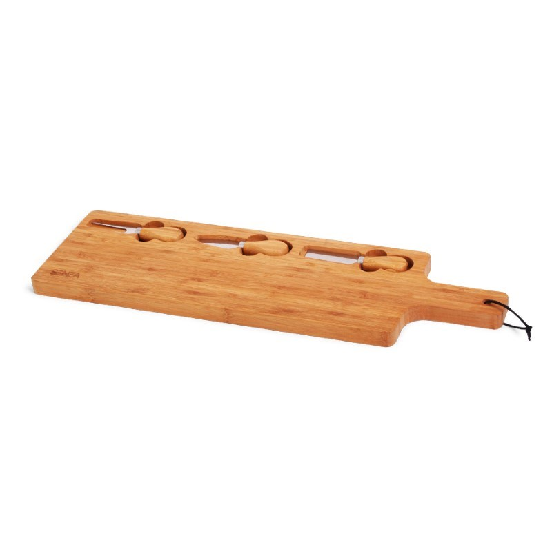 SENZA Bamboo Tapas Plate with Knifes
