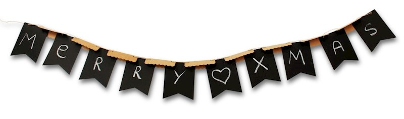 SENZA Paper Flagbanner with Crayon