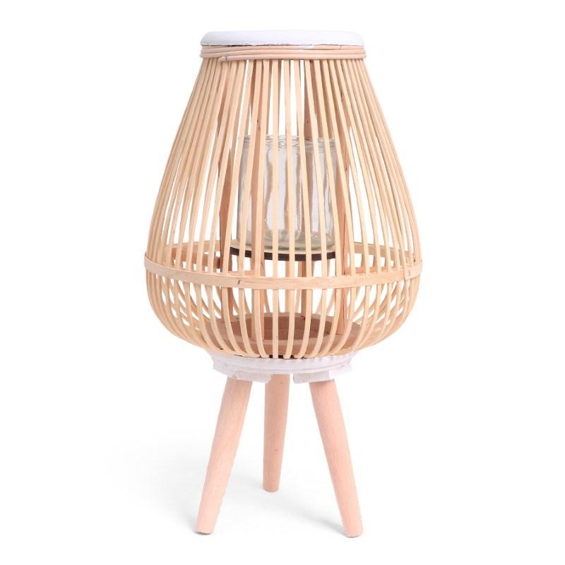 SENZA Bamboo Lantern White/Natural