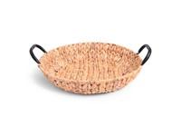 SENZA Hyacinth Shallow Basket with Handles