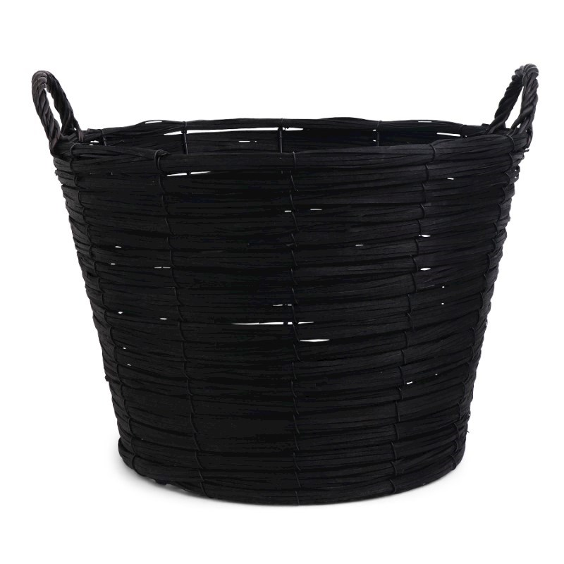 SENZA Willow Basket Black