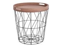 SENZA Iron Basket with Serving Tray Black XL