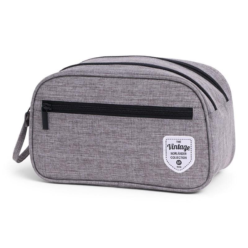 Vintage Twin Tone Cosmeticbag Grey