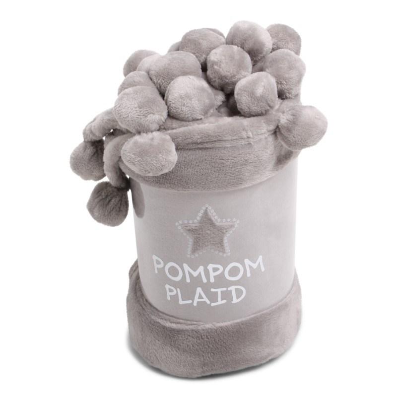 Pom Pom Plaid Solid Grey