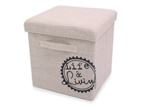 Foldable Storage Pouffe with handles Jute