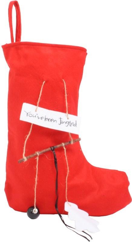 Felt Christmas Sock Red 'You've been Jingled'