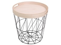 Iron Basket with Serving Tray Black XL