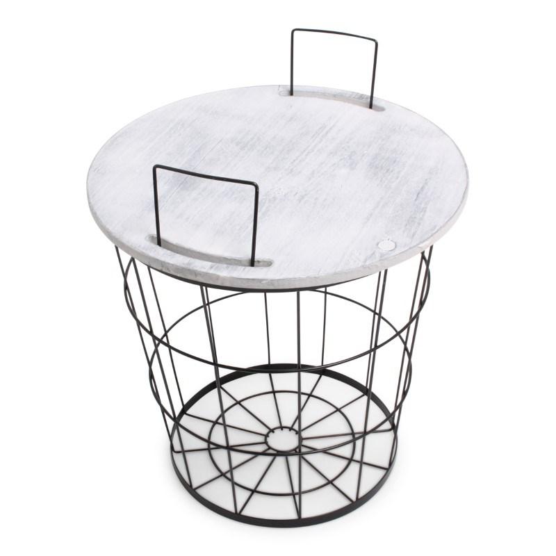 Iron Basket with handles Black